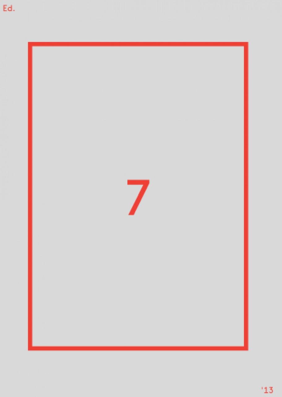 """Edition Berliner Festspiele Nr. 7"""