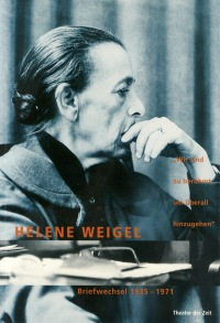 Cover Helene Weigel Briefwechsel