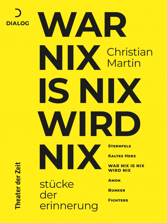 Christian Martin: War nix is nix wird nix