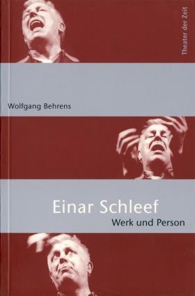 Cover Einar Schleef. Werk und Person