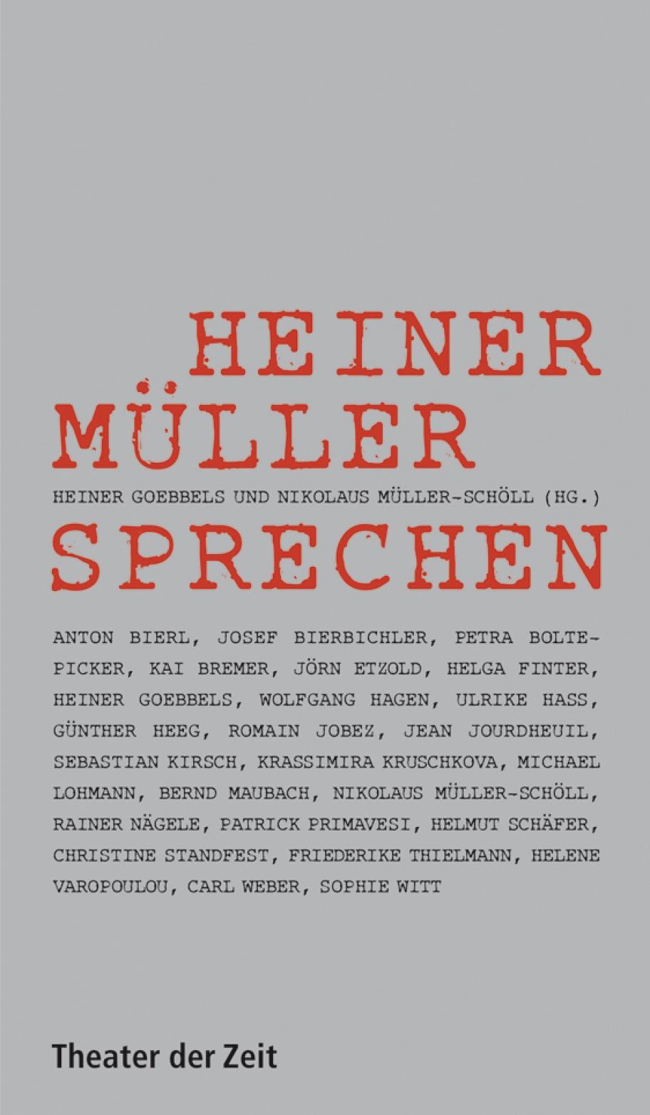 Heiner Müller sprechen