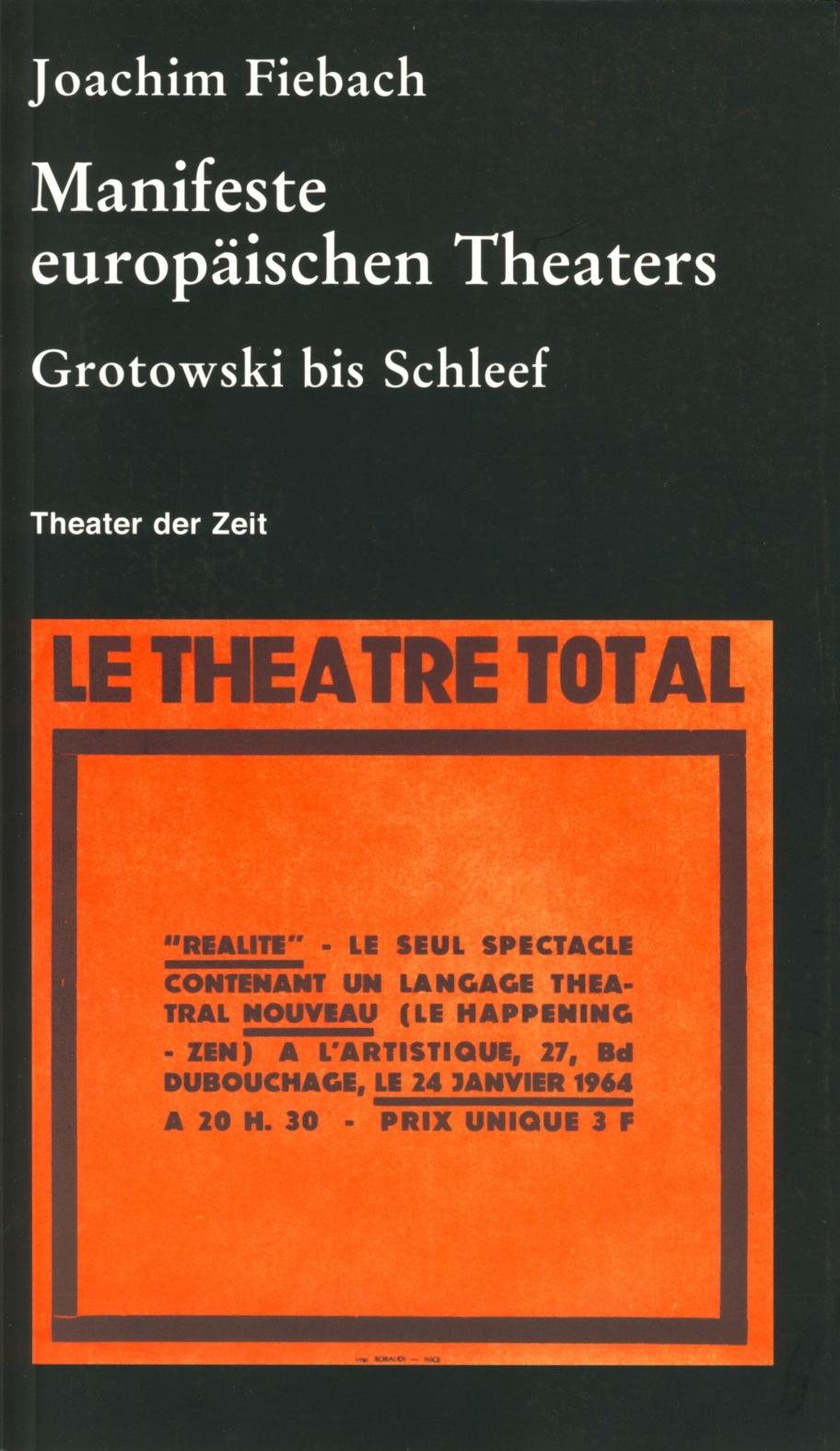 Manifeste europäischen Theaters