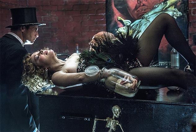"""Valery Tscheplanowa in """"Faust"""", Regie: Frank Castorf. Foto: Just Loomis"""