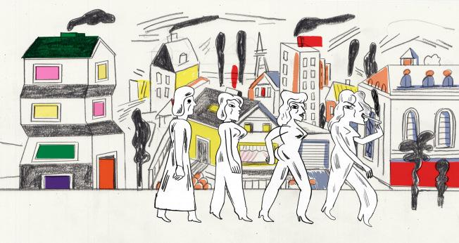 """Brechts feministische Ader – Katia Fouquets Trickfilm adaptiert """"Die unwürdige Greisin"""" als Geschichte weiblichen Empowerments. Illustration Katia Fouquet / Brechtfestival"""