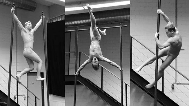 Man tauscht sich aus und wird angeregt durch die #TakeCare- Residenzprogramme des Fonds Darstellende Künste – hier der Performer Jan Jedenak bei experimentellen Grenzgängen zwischen Akrobatik und Figurentheater. Fotos Malte Lengenhausen