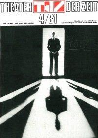 Theater der Zeit 04/1981