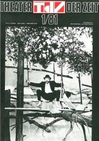 Theater der Zeit 01/1981