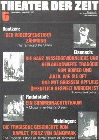 Theater der Zeit 05/1977