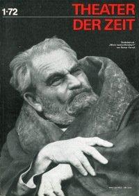 Theater der Zeit 01/1972