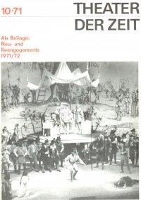 Theater der Zeit 10/1971