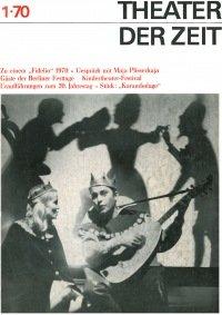 Theater der Zeit 01/1970