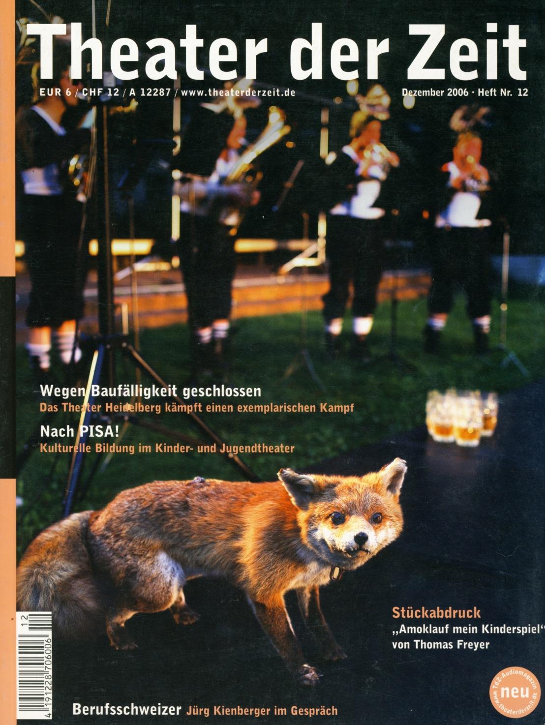 Theater der Zeit 12/2006