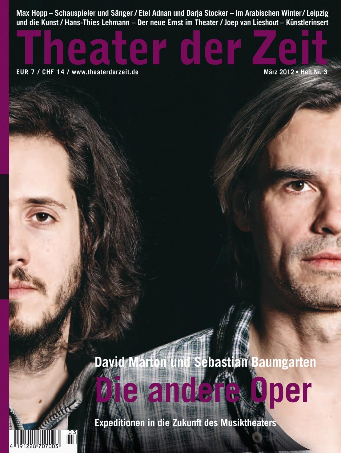 Theater der Zeit 3/2012