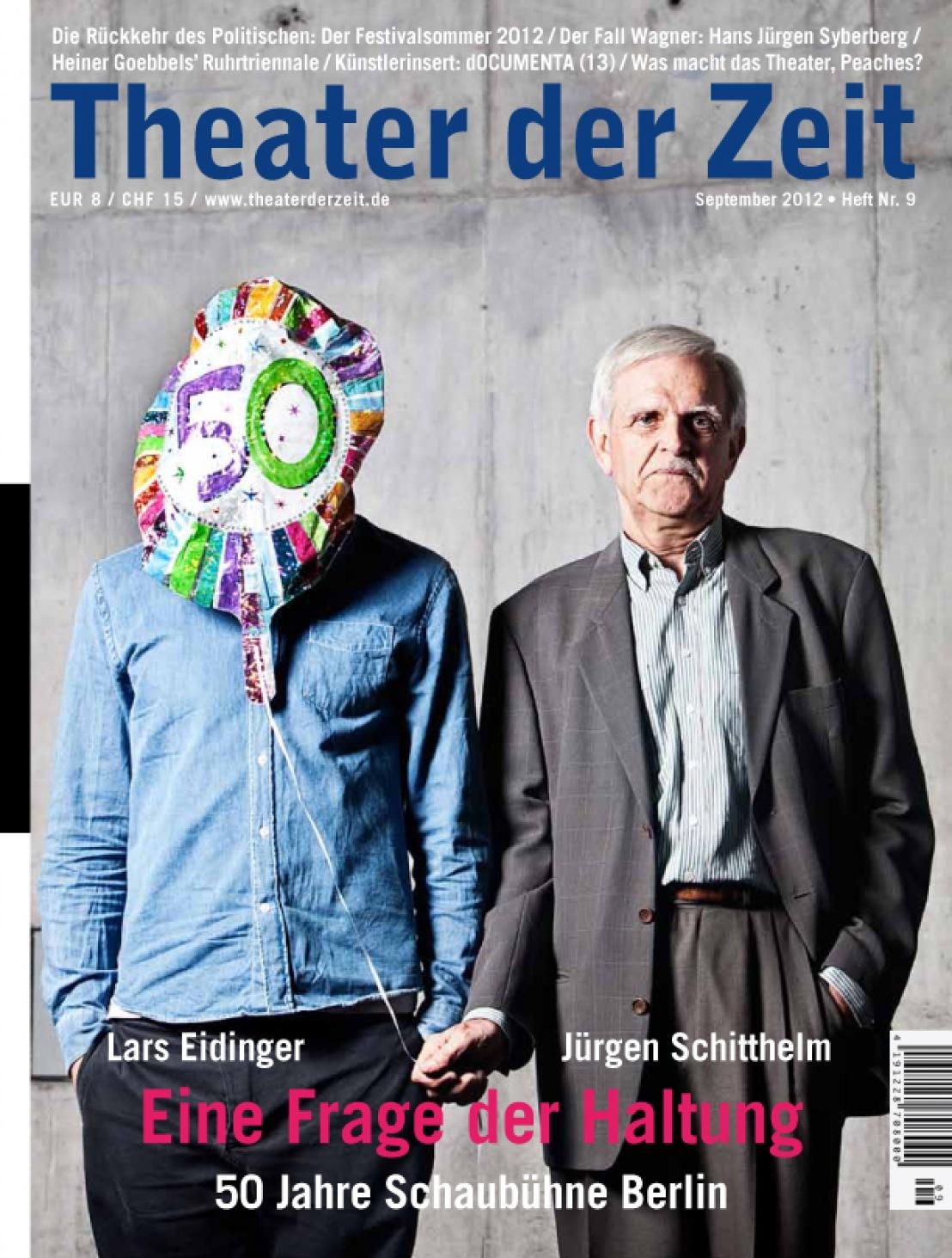 Theater der Zeit 9/2012