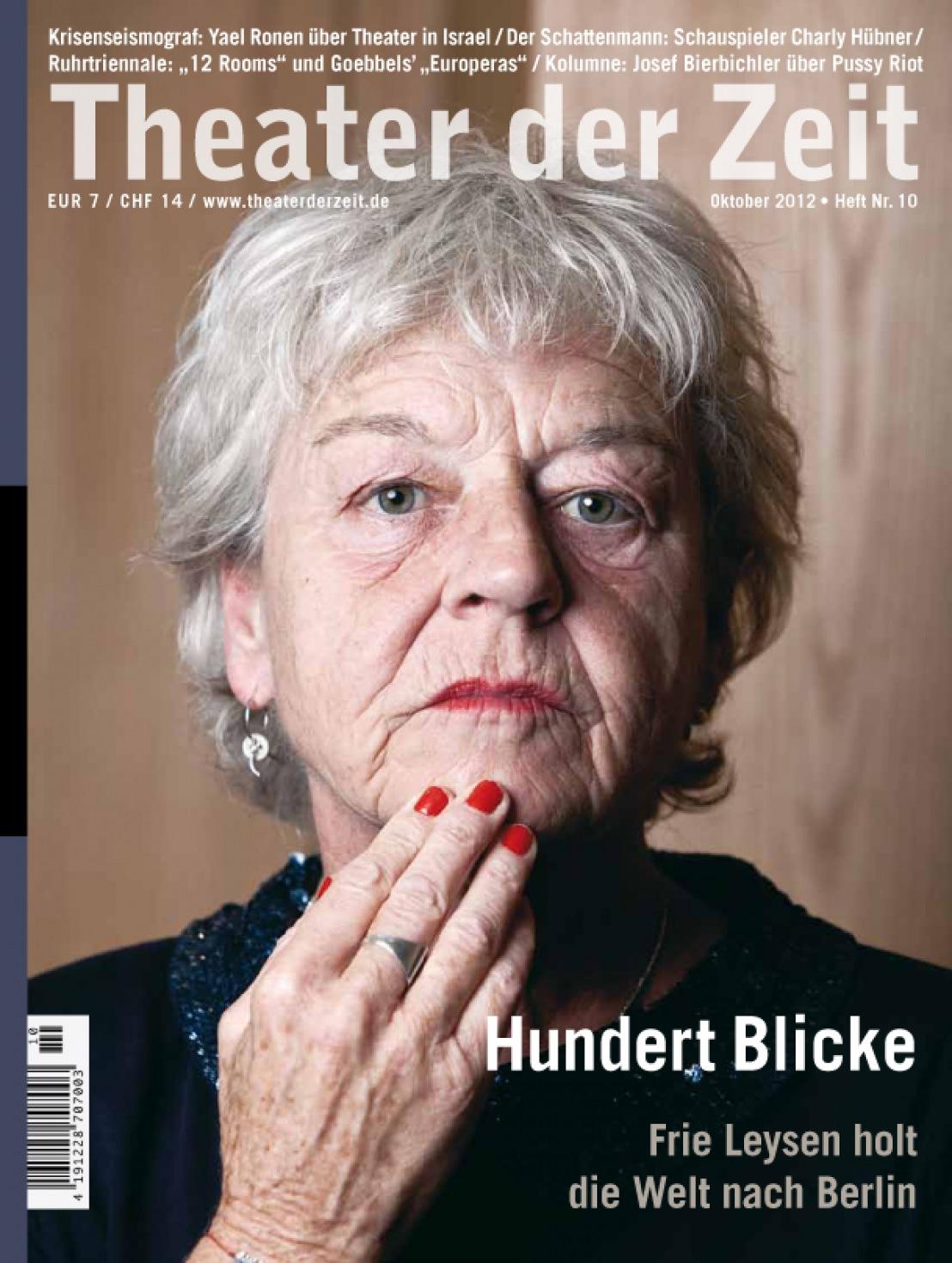 Theater der Zeit 10/2012