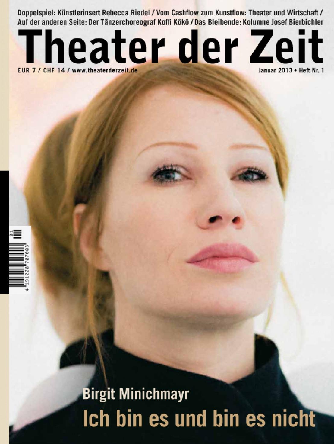 Theater der Zeit 1/2013