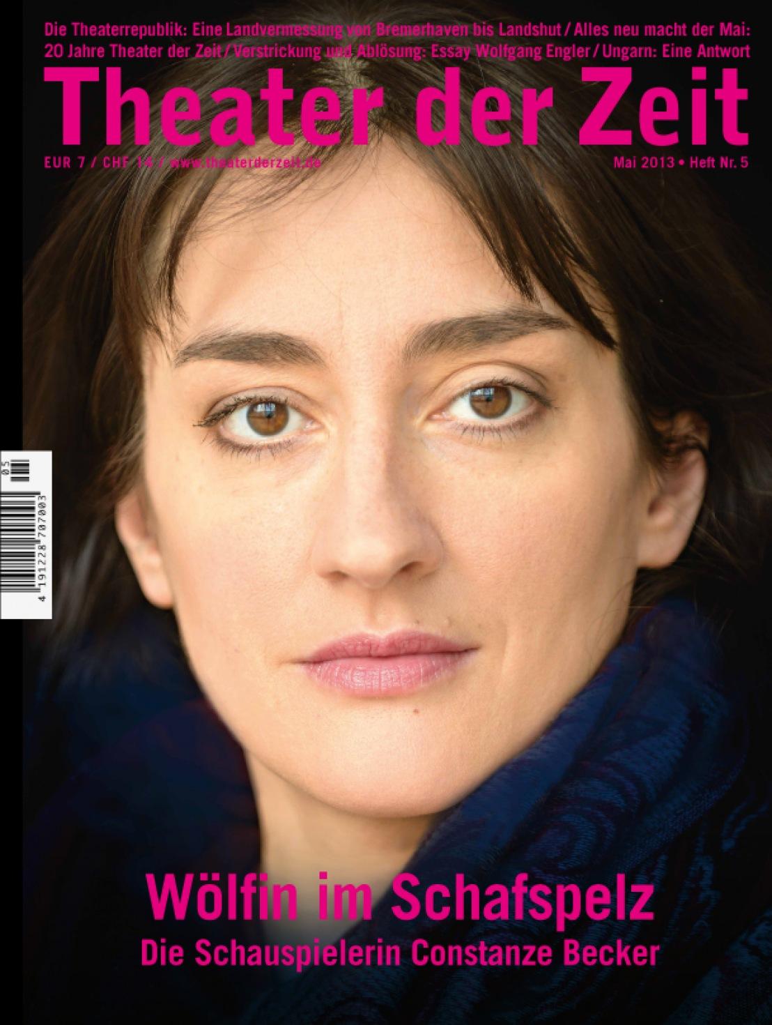 Theater der Zeit 5/2013