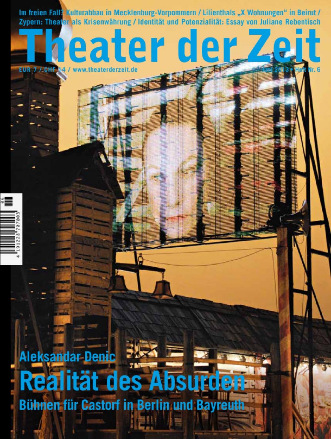 Theater der Zeit 6/2013
