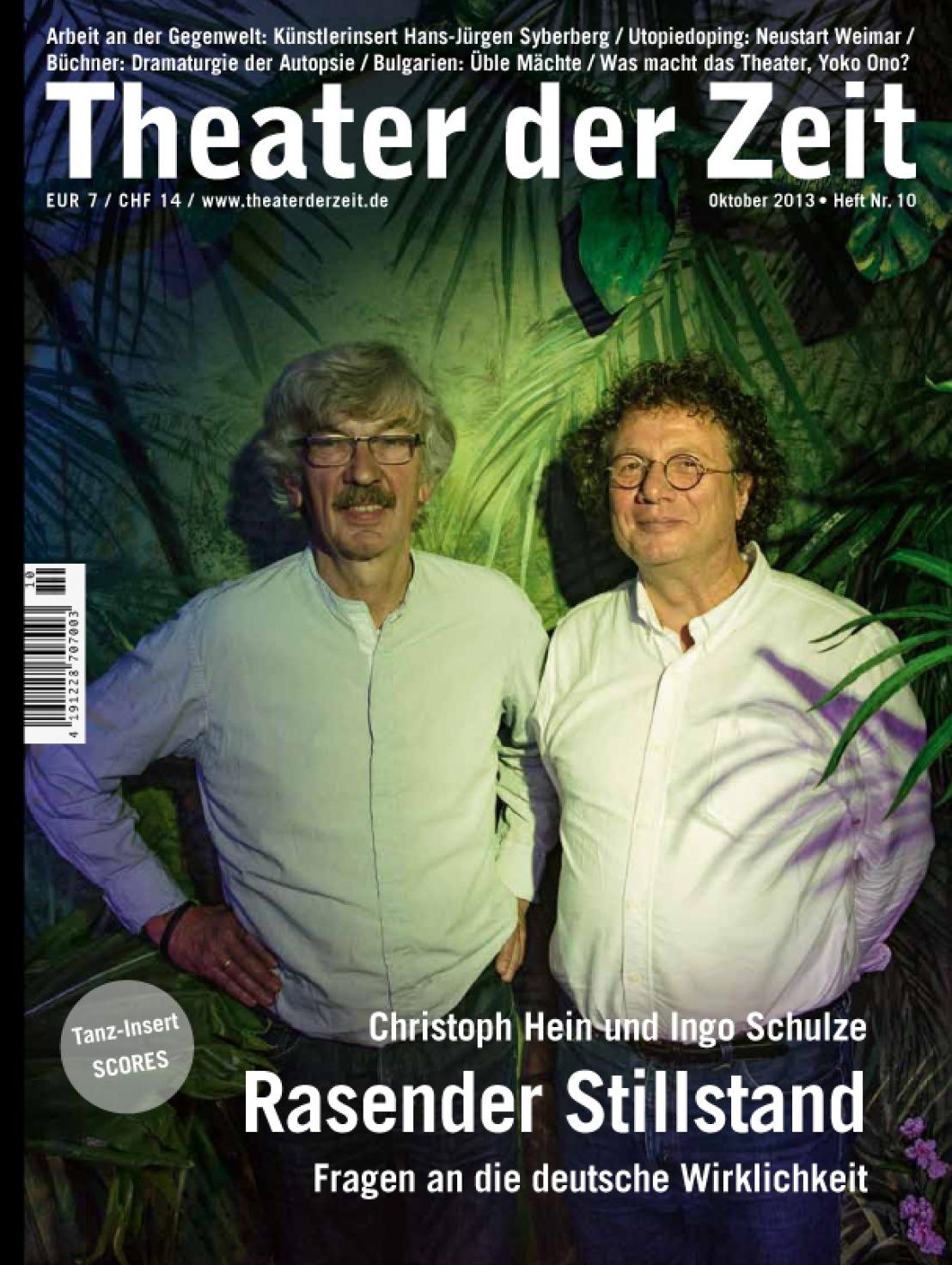 Theater der Zeit 10/2013
