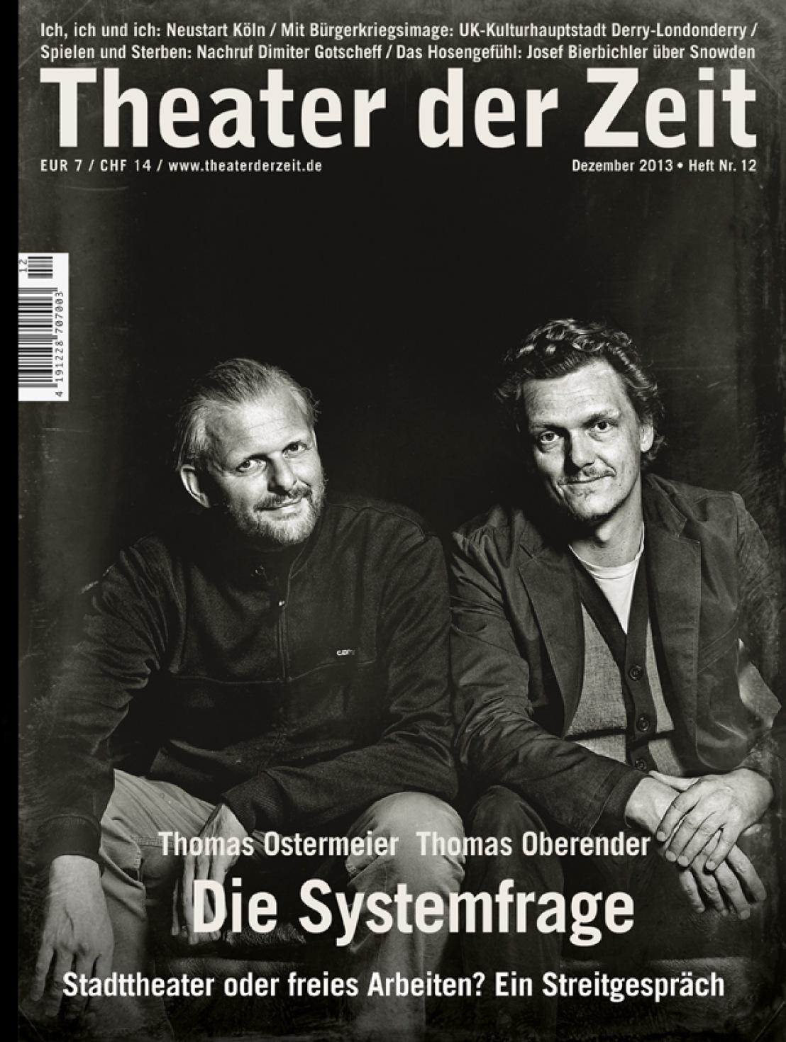 Theater der Zeit 12/2013