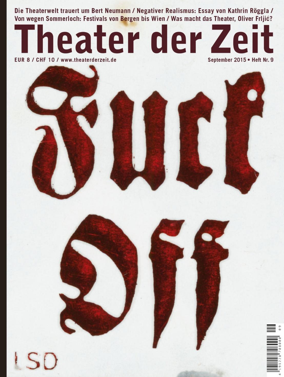 Theater der Zeit 9/2015