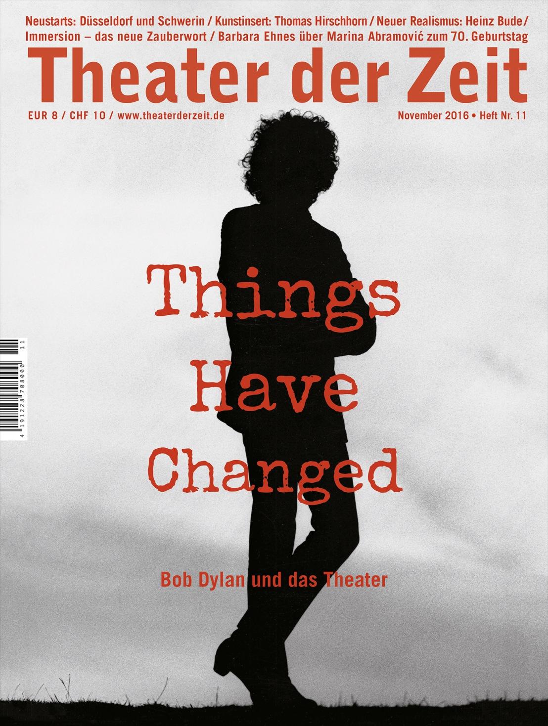 Theater der Zeit 11/2016