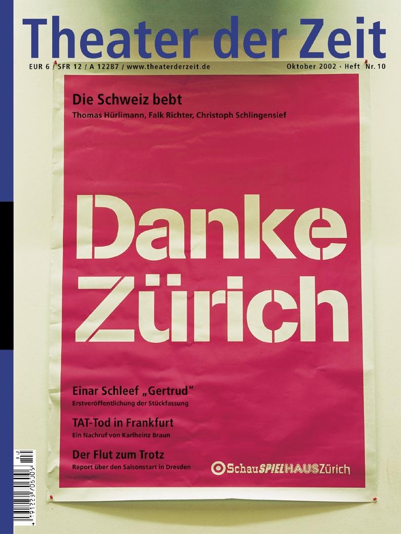 Theater der Zeit 10/2002