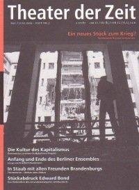 Theater der Zeit 05/1999