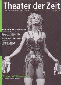 Theater der Zeit 11/1998