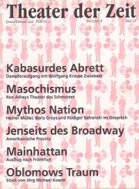 Theater der Zeit 01/1996