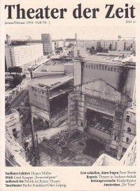 Theater der Zeit 01/1994