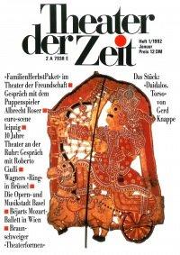 Theater der Zeit 01/1992
