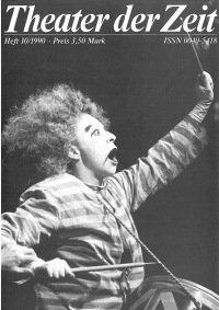 Theater der Zeit 10/1990