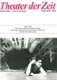 Theater der Zeit 04/1990