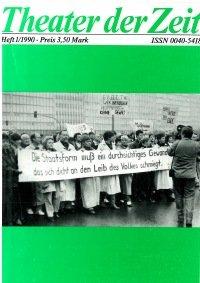 Theater der Zeit 01/1990