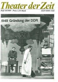 Theater der Zeit 10/1989