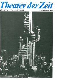 Theater der Zeit 09/1989