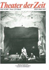 Theater der Zeit 08/1989