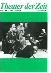 Theater der Zeit 07/1989