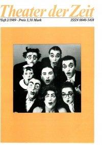 Theater der Zeit 02/1989