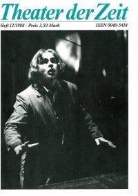 Theater der Zeit 12/1988