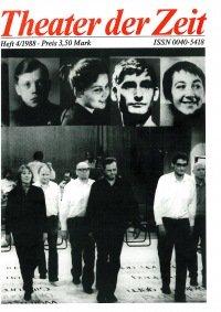 Theater der Zeit 04/1988