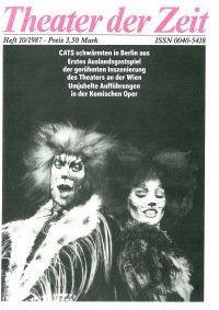 Theater der Zeit 10/1987