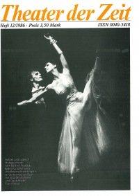 Theater der Zeit 12/1986