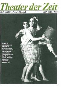 Theater der Zeit 10/1986