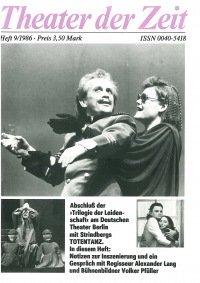 Theater der Zeit 09/1986