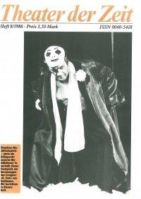 Theater der Zeit 08/1986