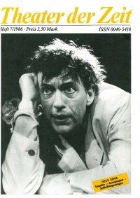 Theater der Zeit 07/1986