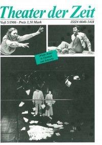 Theater der Zeit 05/1986