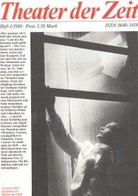 Theater der Zeit 01/1986